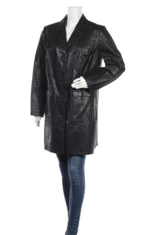 Дамско кожено яке, Размер XXL, Цвят Черен, Естествена кожа, Цена 25,73лв.