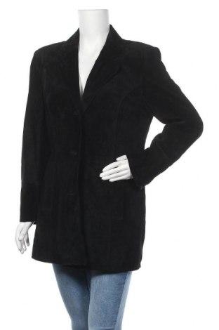 Γυναικείο δερμάτινο μπουφάν, Μέγεθος S, Χρώμα Μαύρο, Φυσικό σουέτ, Τιμή 41,37€