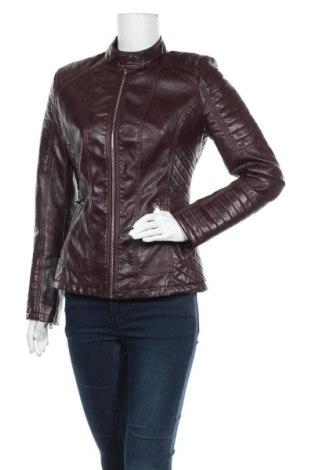 Дамско кожено яке, Размер XL, Цвят Лилав, Еко кожа, Цена 30,14лв.
