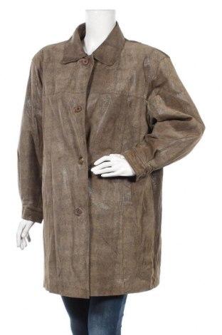 Дамско кожено яке, Размер M, Цвят Кафяв, Естествена кожа, Цена 17,59лв.