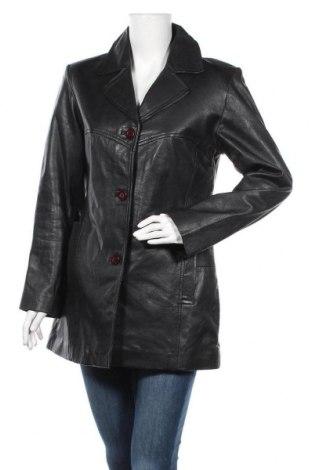 Γυναικείο δερμάτινο μπουφάν, Μέγεθος L, Χρώμα Μαύρο, Γνήσιο δέρμα, Τιμή 15,23€