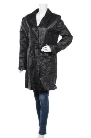 Дамско кожено яке, Размер XXL, Цвят Черен, Естествена кожа, Цена 63,32лв.