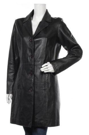 Дамско кожено яке 17 & Co., Размер L, Цвят Черен, Естествена кожа, Цена 34,02лв.