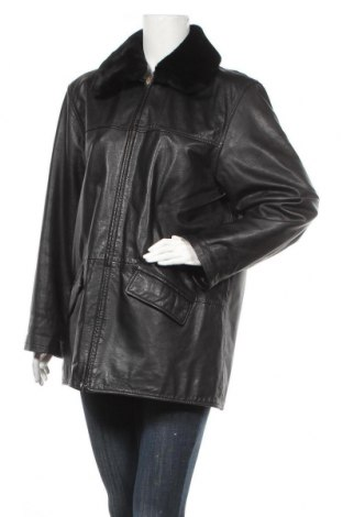 Дамско кожено яке BIBA + pariscop, Размер M, Цвят Черен, Естествена кожа, Цена 29,40лв.