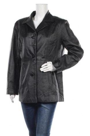 Дамско кожено яке Basic Editions, Размер XL, Цвят Черен, Естествена кожа, Цена 64,05лв.