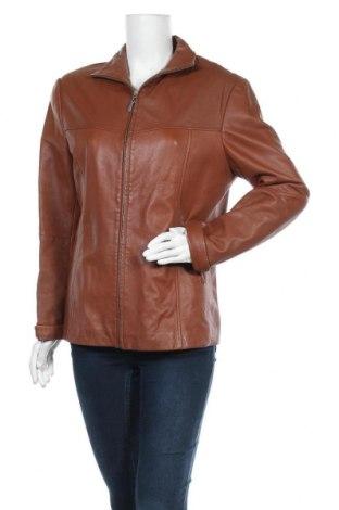 Дамско кожено яке Cabrini, Размер L, Цвят Кафяв, Естествена кожа, Цена 60,74лв.