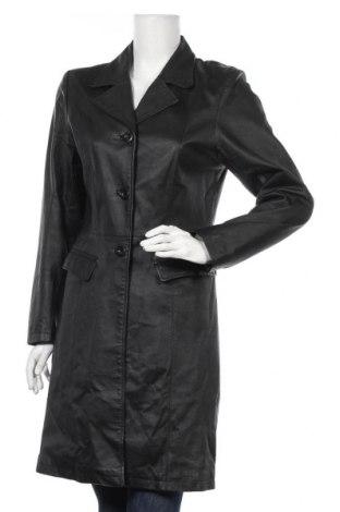 Γυναικείο δερμάτινο μπουφάν Clockhouse, Μέγεθος M, Χρώμα Μαύρο, Γνήσιο δέρμα, Τιμή 35,89€