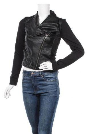 Дамско кожено яке Colours Of The World, Размер S, Цвят Черен, Еко кожа, текстил, Цена 41,90лв.