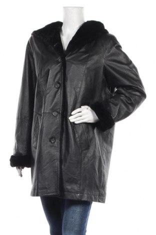 Дамско кожено яке Fabiani, Размер L, Цвят Черен, Естествена кожа, Цена 61,43лв.