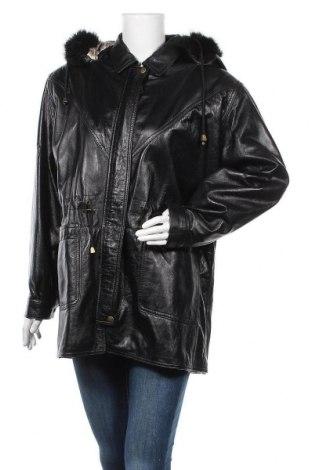 Дамско кожено яке Florence, Размер L, Цвят Черен, Естествена кожа, Цена 25,73лв.