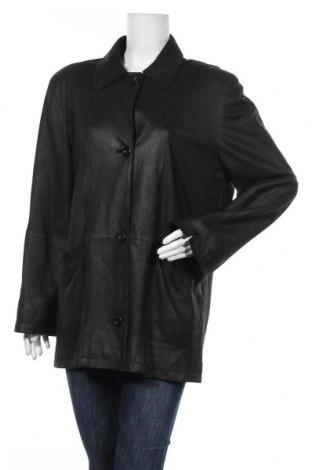 Дамско кожено яке Franco Callegari, Размер L, Цвят Черен, Естествена кожа, Цена 71,40лв.