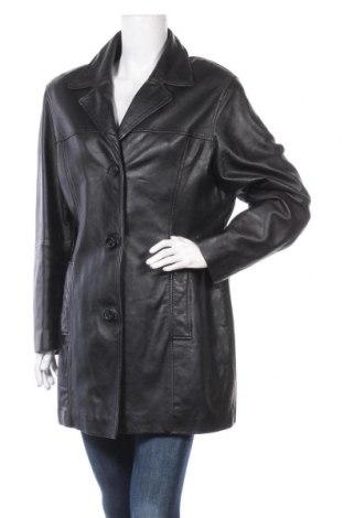 Дамско кожено яке Front Line, Размер XL, Цвят Черен, Естествена кожа, Цена 22,58лв.