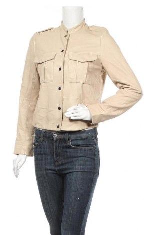 Γυναικείο δερμάτινο μπουφάν Gap, Μέγεθος S, Χρώμα  Μπέζ, Γνήσιο δέρμα, Τιμή 29,55€
