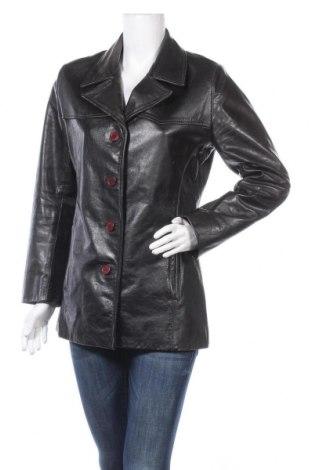Γυναικείο δερμάτινο μπουφάν Gipsy, Μέγεθος M, Χρώμα Μαύρο, Γνήσιο δέρμα, Τιμή 21,37€