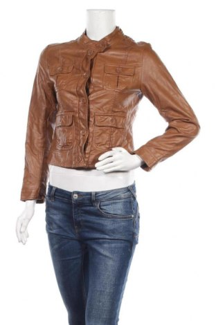 Γυναικείο δερμάτινο μπουφάν H&M, Μέγεθος S, Χρώμα Καφέ, Δερματίνη, Τιμή 14,35€