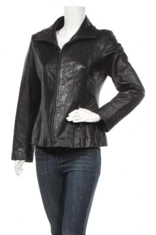 Γυναικείο δερμάτινο μπουφάν Jones New York, Μέγεθος M, Χρώμα Μαύρο, Γνήσιο δέρμα, Τιμή 22,28€