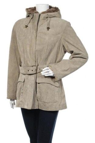 Дамско кожено яке Joy, Размер L, Цвят Сив, Естествена кожа, Цена 63,84лв.