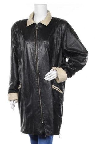 Γυναικείο δερμάτινο μπουφάν Lussile, Μέγεθος L, Χρώμα Μαύρο, Γνήσιο δέρμα, Τιμή 40,46€