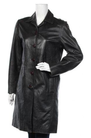 Дамско кожено яке Mauritius, Размер S, Цвят Черен, Естествена кожа, Цена 24,68лв.