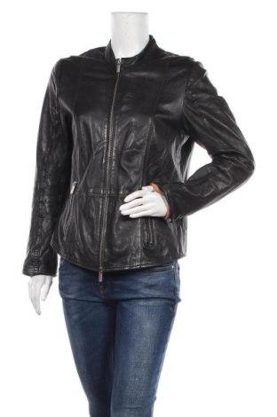 Γυναικείο δερμάτινο μπουφάν Milestone, Μέγεθος L, Χρώμα Μαύρο, Γνήσιο δέρμα, Τιμή 84,33€