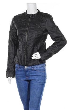 Γυναικείο δερμάτινο μπουφάν ONLY, Μέγεθος L, Χρώμα Μαύρο, Δερματίνη, Τιμή 27,93€