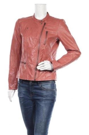 Дамско кожено яке ONLY, Размер M, Цвят Розов, Еко кожа, Цена 38,38лв.