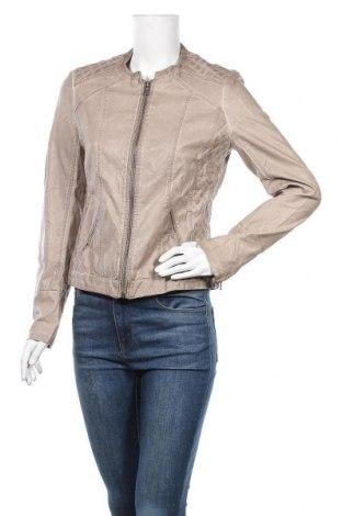Дамско кожено яке Promod, Размер M, Цвят Бежов, Еко кожа, Цена 30,87лв.