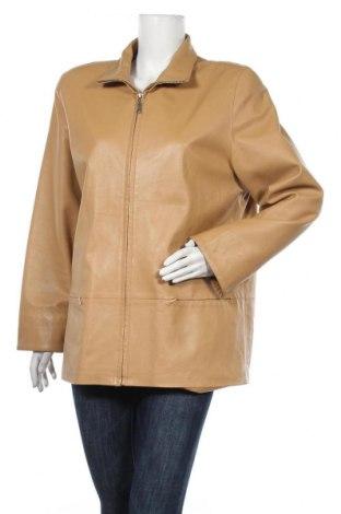 Γυναικείο δερμάτινο μπουφάν Relax, Μέγεθος XL, Χρώμα  Μπέζ, Γνήσιο δέρμα, Τιμή 18,64€
