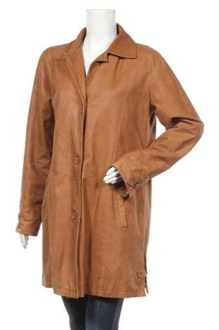 Дамски кожен шлифер TCM, Размер XL, Цвят Кафяв, Естествена кожа, Цена 68,25лв.