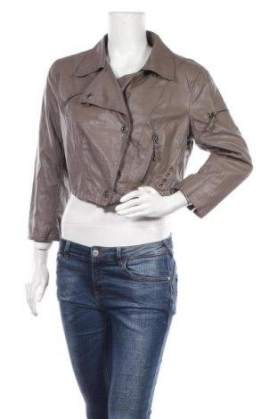 Γυναικείο δερμάτινο μπουφάν Vero Moda, Μέγεθος XL, Χρώμα Καφέ, Δερματίνη, Τιμή 22,15€