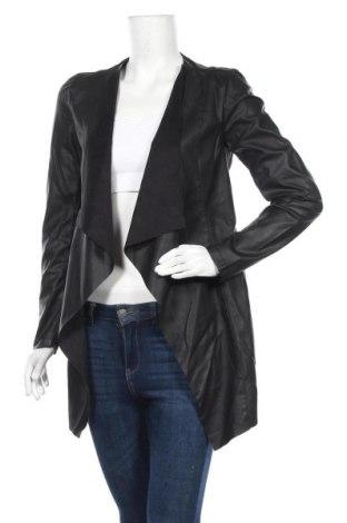 Дамско кожено яке Vila, Размер S, Цвят Черен, Еко кожа, Цена 32,64лв.