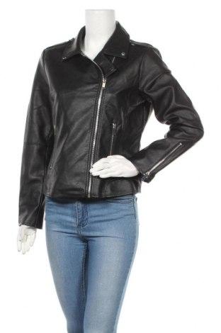 Дамско кожено яке Vila, Размер L, Цвят Черен, Еко кожа, Цена 43,45лв.