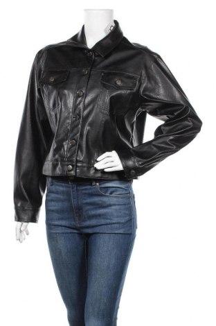 Γυναικείο δερμάτινο μπουφάν Vroom & Dreesmann, Μέγεθος L, Χρώμα Μαύρο, Δερματίνη, Τιμή 19,10€