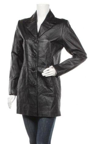 Дамски кожен шлифер Woodpecker, Размер S, Цвят Черен, Естествена кожа, Цена 45,05лв.