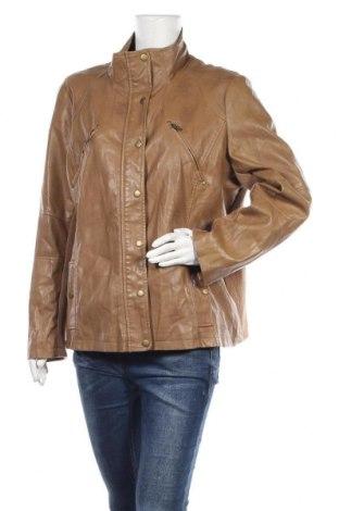 Γυναικείο δερμάτινο μπουφάν Yessica, Μέγεθος XL, Χρώμα Καφέ, Δερματίνη, Τιμή 15,68€
