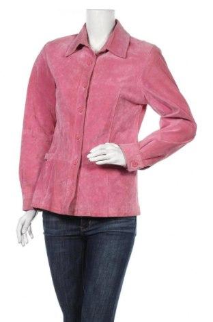 Γυναικείο δερμάτινο μπουφάν Yoors, Μέγεθος M, Χρώμα Ρόζ , Φυσικό σουέτ, Τιμή 18,64€