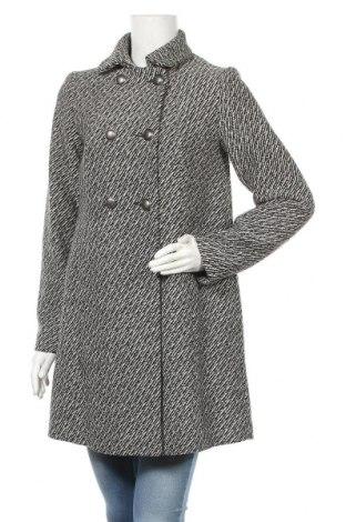 Дамско палто H&M, Размер M, Цвят Черен, 60% вълна, 40% полиестер, Цена 42,92лв.