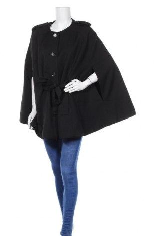 Дамско палто H&M, Размер L, Цвят Черен, 74% полиестер, 24% вискоза, 2% еластан, Цена 32,48лв.