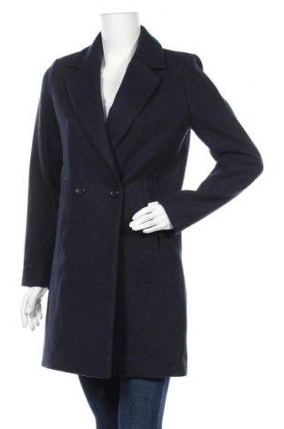 Дамско палто Ichi, Размер XS, Цвят Син, 70% полиестер, 15% акрил, 15% полиамид, Цена 69,16лв.