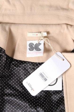 Дамско палто Kling, Размер L, Цвят Бежов, 90% полиестер, 10% вискоза, Цена 24,92лв.