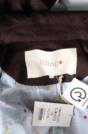 Дамско палто Kling, Размер M, Цвят Кафяв, 80% полиестер, 20% вискоза, Цена 32,80лв.