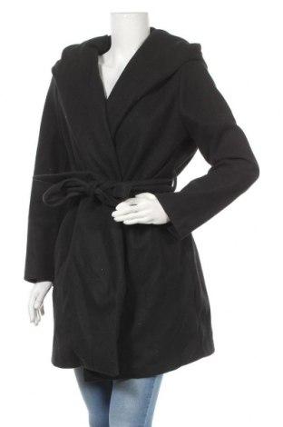 Дамско палто Zara, Размер L, Цвят Черен, Полиестер, Цена 34,00лв.