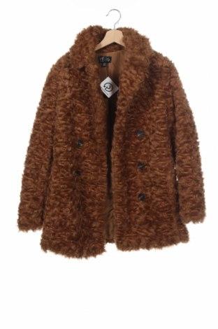 Дамско палто Zara Trafaluc, Размер XS, Цвят Кафяв, Полиестер, Цена 56,00лв.