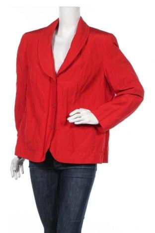 Дамско сако Barbara Lebek, Размер XL, Цвят Червен, 51% полиестер, 43% памук, 6% метални нишки, Цена 23,21лв.