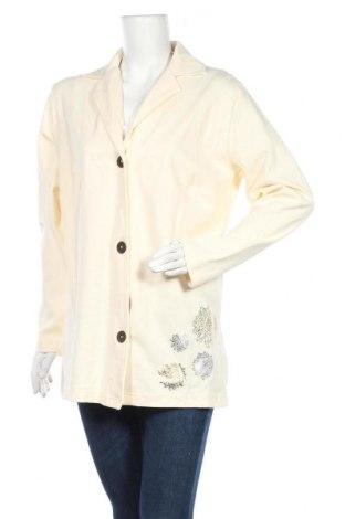 Дамско сако Denim&Co., Размер L, Цвят Екрю, Памук, Цена 15,70лв.