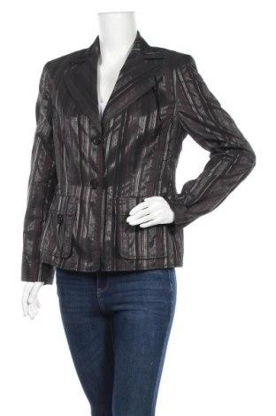 Γυναικείο σακάκι Dino Moda, Μέγεθος L, Χρώμα Μαύρο, 56% πολυεστέρας, 21% βαμβάκι, 23% ασετάτ, Τιμή 5,91€