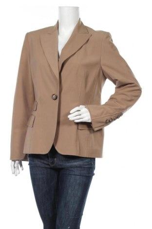 Γυναικείο σακάκι Dino Moda, Μέγεθος L, Χρώμα  Μπέζ, 90% πολυεστέρας, 10% πολυουρεθάνης, Τιμή 6,37€