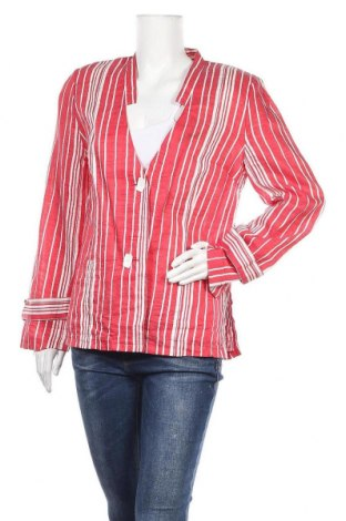 Дамско сако Ella, Размер L, Цвят Червен, 88% лен, 12% полиестер, Цена 6,64лв.