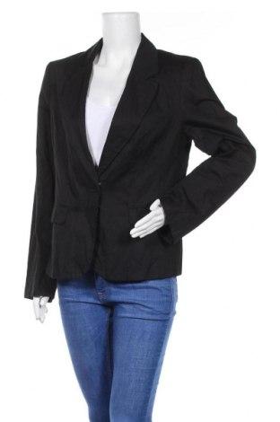 Γυναικείο σακάκι Essentiel, Μέγεθος XL, Χρώμα Μαύρο, 95% βαμβάκι, 5% μεταλλικά νήματα, Τιμή 21,38€