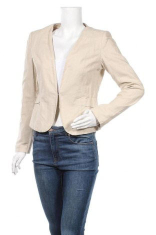 Дамско сако Grain De Malice, Размер M, Цвят Бежов, 54% лен, 46% памук, Цена 22,31лв.